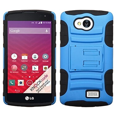 Insten Advanced Armor Hard Dual Layer Rubber Coated Silicone Cover Case w/stand For LG Tribute - Blue/Black