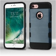 Insten Slate Blue/Black Brushed TUFF Trooper Hybrid Dual Layer Case Cover for Apple iPhone 7