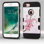 Insten Spring Flowers 2-Layer Hybrid Case For Apple iPhone 7 - Pink/White
