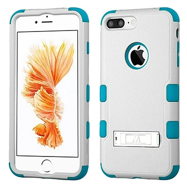 Insten Tuff 3-Piece Style Shockproof Soft TPU Hard Hybrid Cover Case with Kiskstand For iPhone 7 Plus - White/Blue