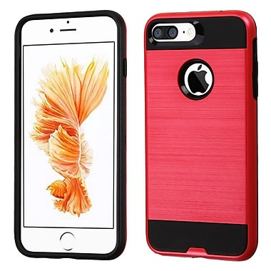 Insten Dual Layer Hybrid Soft TPU Hard Shell Case For Apple iPhone 7 Plus, Red/Black (2271094)