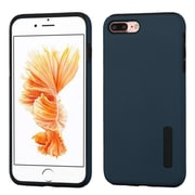 Insten Hybrid Dual Layer Silicone Hard Cover Case For Apple iPhone 7 Plus - Blue/Black