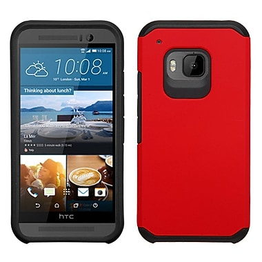 Insten Hard Dual Layer Rubberized Silicone Case For HTC One M9 - Red/Black