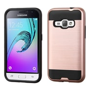 Insten Hard Hybrid Silicone Case For Samsung J1/Galaxy Amp 2, Rose Gold/Black (2234517)