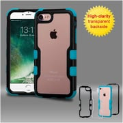 Insten Black Frame+Transparent PC Back/Tropical Teal TUFF Vivid Hybrid Case Cover for Apple iPhone 7