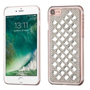 Insten Sparkly Diamante Hard Cover Case For Apple iPhone 7 - Silver (with 3D Rhinestone Diamond)