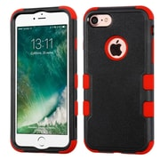 Insten Tuff Hard Hybrid 3-Layer Silicone Cover Case For iPhone 7 - Black/Red