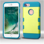 Insten 2-Layer Hybrid Hard TPU Case For Apple iPhone 7 - Yellow/Teal