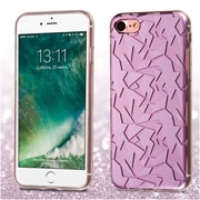 Insten Purple Geometry Rubber Soft TPU Skin Cover Case For iPhone 7