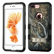 Insten Yellow/Black Vine/Black TUFF Hybrid Dual Layer Stand Case Cover for Apple iPhone 7 Plus