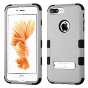 Insten Tuff 3-Piece Style Shockproof Soft TPU Hard Hybrid Cover Case For iPhone 7 Plus - Gray/Black