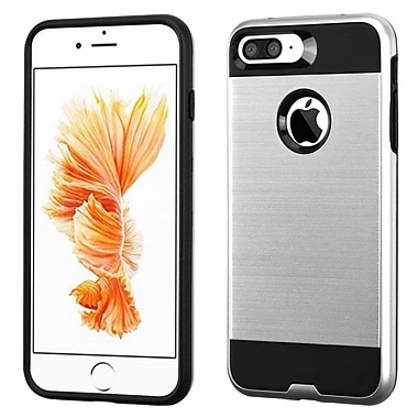 Insten Dual Layer Hybrid Soft TPU Hard Shell Case For Apple iPhone 7 Plus/ 8 Plus, Silver/Black (2271091)