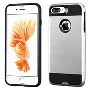 Insten Dual Layer Hybrid Soft TPU Hard Shell Case For Apple iPhone 7 Plus - Silver/Black