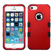 Insten Tuff Hard Hybrid Silicone Cover Case For Apple iPhone SE / 5/ 5S - Red/Black