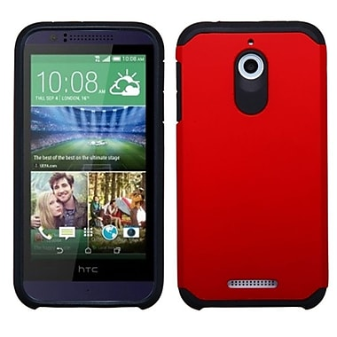 Insten Red/Black Dual Layer Hybrid Rugged Shockproof Rubberized Hard PC/Silicone Case Cover For HTC Desire 510
