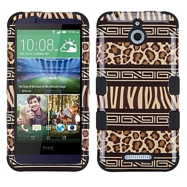 Insten Zebra Hard Hybrid Rugged Shockproof Rubber Coated Silicone Case For HTC Desire 510 - Brown/Black