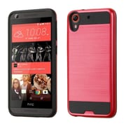 Insten Hard Dual Layer Silicone Case For HTC Desire 626/626s - Red/Black