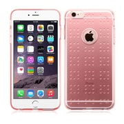 Insten Rubber Gel TPU Spots Shock-Absorbing Case Cover for iPhone 6 Plus / 6S Plus - Glassy Transparent Clear Rose Gold
