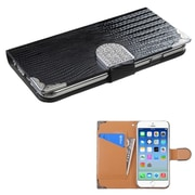 "Insten Flip Crocodile Leather Wallet Case Cover with Card Slot for Apple iPhone 6 6S 4.7"" , Black"