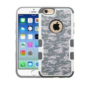 Insten Camouflage Hard Rubberized Cover Case For Apple iPhone 6/6s - Gray/White