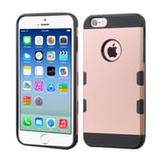 Insten Dual Layer Hybrid Hard PC/TPU Shockproof Case Cover for iPhone 6 6s - Rose Gold/Black