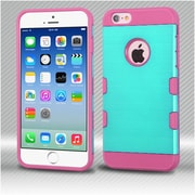 Insten Hard TPU Cover Case For Apple iPhone 6 / 6s - Teal/Pink