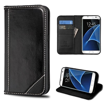 Insten Black Wallet Leather Case Cover For Samsung Galaxy S7 Edge (with Card Cash slots / Kickstand / Magnetic closure)