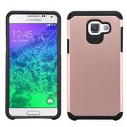 Insten - Étui à double coque en silicone/plastique rigide pour Samsung Galaxy A5, rose doré/noir (2200371)