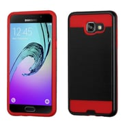 Insten Hard Hybrid Dual Layer Rubber Silicone Cover Case For Samsung Galaxy A5, Black/Red (2233123)