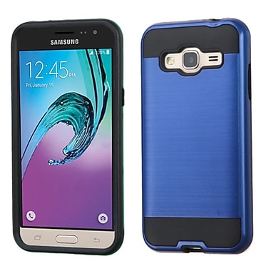 Insten Hard Hybrid Rubber Coated Silicone Case For Samsung Galaxy Amp Prime/J3, Blue/Black (2208048)