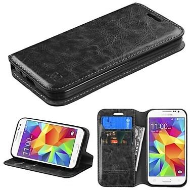 Instenl MyJacket Wallet Leather Stand Case For Samsung Galaxy Prevai - Black