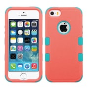 Insten Tuff Hard Hybrid Silicone Cover Case For Apple iPhone SE 5S 5 - Red/Teal