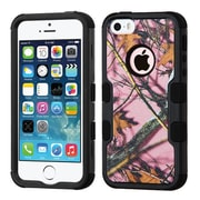 Insten Tuff Oak-Hunting Hard Dual Layer Rubber Silicone Case For Apple iPhone SE / 5 / 5S - Pink/Black