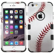 "Insten Tuff Baseball Hard Hybrid Rubber Silicone Cover Case For Apple iPhone 6 Plus 5.5"" /Black"