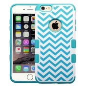 "Insten Blue Wave/Tropical Teal Green TUFF Merge Hybrid Hard Silicone Case Cover For iPhone 6 Plus 5.5"" inch"
