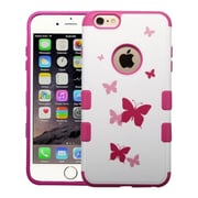 Insten Butterfly Dancing/Hot Pink TUFF Merge Hybrid Hard Shockproof Silicone Case Cover For iPhone 6S Plus / 6 Plus 5.5""