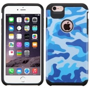 Insten Camouflage Hard Dual Layer Rubberized Silicone Cover Case For Apple iPhone 6 Plus/6s Plus - Blue/Black