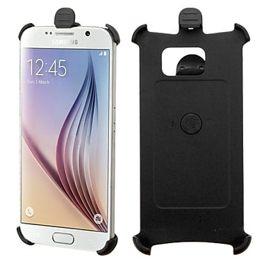 Insten Hard Rubberized Holster For Samsung Galaxy S6, Black (2133871)