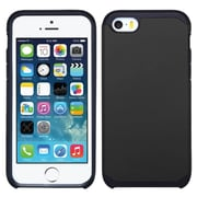Insten Hard Dual Layer Rubber Coated Silicone Cover Case For Apple iPhone SE 5S 5 - Black