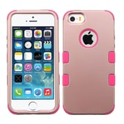 Insten Tuff Hard Dual Layer Rubberized Silicone Case For Apple iPhone SE 5S 5 - Rose Gold/Pink