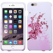 """Insten Spring Flowers Hard Rubber Case For Apple iPhone 6 Plus 5.5"""" - White/Pink"""