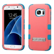 Insten Hard Dual Layer Hybrid Case with stand For Samsung Galaxy S7 - Red/Teal