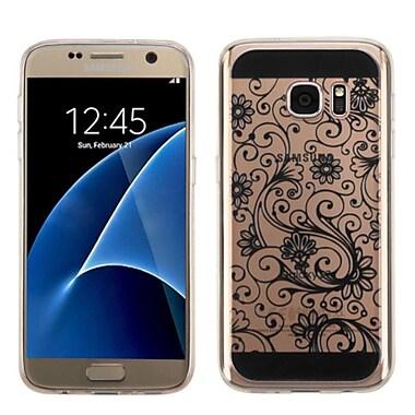 Insten - Étui de protection en caoutchouc avec motif de trèfle à quatre feuilles pour Samsung Galaxy S7, noir (2229190)