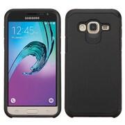 Insten Hard Dual Layer Rubber Silicone Case For Samsung Galaxy Amp Prime / J3 (2016) - Black