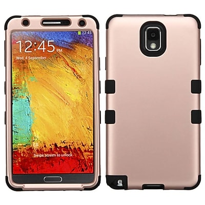 Insten Tuff Hard Dual Layer Rubberized Silicone Case For Samsung Galaxy Note 3 - Rose Gold/Black