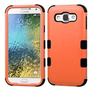 Insten Tuff Hard Hybrid Silicone Case For Samsung Galaxy E5 - Orange/Black