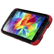 Insten Natural Black/Red TUFF Hybrid Hard Shockproof Phone Case Cover with Stand For Samsung Galaxy S V S5