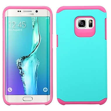 Insten Hard Dual Layer Rubber Coated Silicone Case For Samsung Galaxy S6 Edge Plus - Teal/Pink
