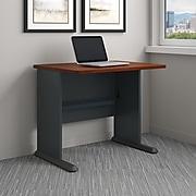 Bush Business Furniture Cubix 36W Desk, Hansen Cherry/Galaxy (WC90436A)