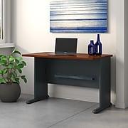 Bush Business Furniture Cubix 48W Desk, Hansen Cherry/Galaxy (WC90448A)
